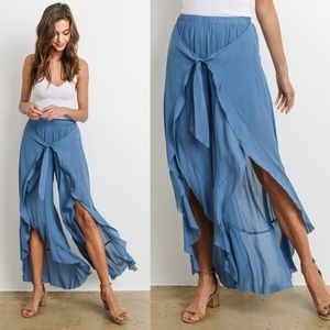 Bellanblue Pants - LAST - KHLOE Flutter Pants - BLUE